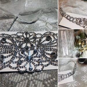 David's Bridal crystal leaflet belt!
